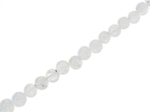 White Moonstone Graduated Round appx 2-5mm Bead Strand appx 15-16""