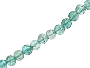 Blue Apatite Round appx 3mm Bead Strand appx 15-16""