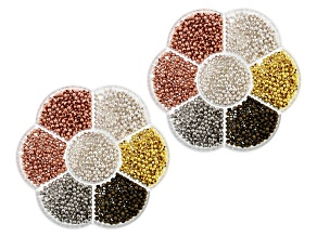 Iron Appx 3mm Round Loose Beads in Multi Tones Appx 2,000 Pieces Total