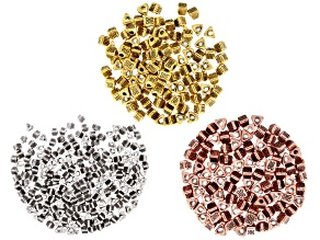 Triangle Metal Kit appx 5mm in Antique Silver, Gold & Rose Gold Tone appx 400 Pieces Total