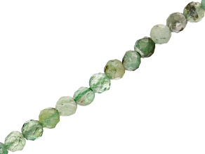 Emerald Faceted appx 2mm Round Bead Strand appx 15-16