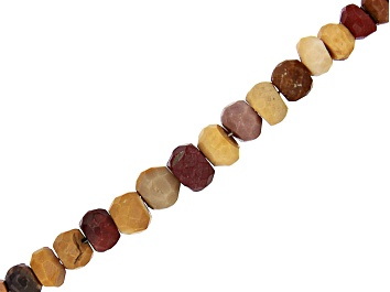 """Picture of Mookaite Graduated Faceted Rondelle appx 3-5mm Bead Strand appx 15-16"""""""