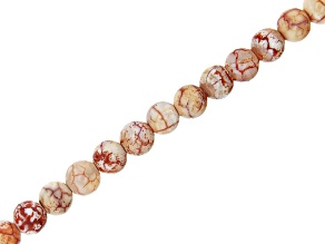 """Fire Terra Agate Round appx 6mm Bead Strand appx 14-15"""""""