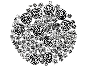 Indonesian Inspired Metal Spacer Beads in 5 Flower Styles in Antique Silver Tone 130 Pieces Total