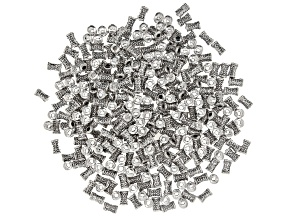 Indonesian Inspired Metal Spacer Tube appx 7.5x4.5mm Beads in Antique Silver Tone 300 Pieces Total
