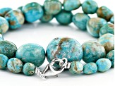 Arkansas Turquoise & Turquoise in Matrix Graduated Rondelle appx 12-14mm Bead Strand appx 13-14""