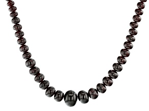 Red Embers Mine Garnet Graduated Rondelle appx 5-12mm Bead Strand appx 14""