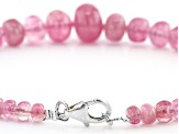 San Diego Pink Tourmaline Graduated Rondelle appx 4-9mm Bead Strand appx 7.5""