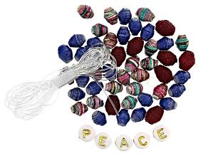 """Akola Assorted Karatasi, Raffia, and """"Peace"""" Letter Beads"""