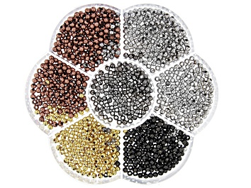 Picture of Multi Tone Round Metal Spacer Bead Kit Appx 3mm Appx 980 Pieces Total