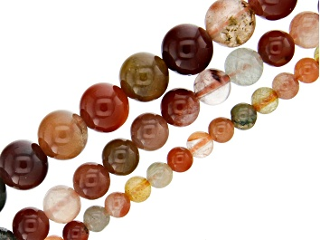 Picture of Multi-Quartz Round appx 4-8mm Bead Strand Set of 3 appx 15-16""