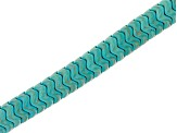 Turquoise Simulant Bead Strand Set of 6 in Assorted Shapes appx 15-16""