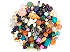 1lb Multi-Stone Mixed Bead Parcel in Assorted Shapes and Sizes