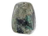 Bahia Brazilian Emerald in Matrix Polished Large Hole Nugget appx 28x20mm Focal Bead