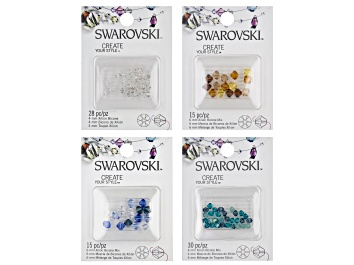 Picture of Swarovski® Create Your Style Crystal Xillion Bicones Set of 4 in Assorted Colors 88 Pieces Total