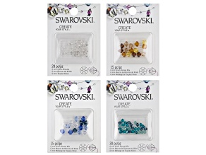 Swarovski® Create Your Style Crystal Xillion Bicones Set of 4 in Assorted Colors 88 Pieces Total