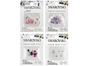 Swarovski® Create Your Style Crystal Xillion Bicones Set of 4 in Assorted Colors 90 Pieces Total