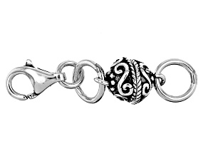 Magnetic Clasp Converter in Rhodium Over Sterling Silver Appx 6mm