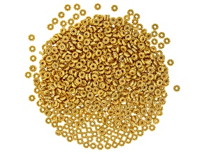 Metal Twisted Rope Round appx 5mm Spacer Bead in Gold Tone 800 Pieces Total