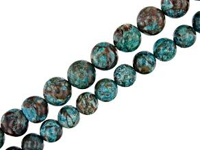 "Blue Sky Jasper Round appx 8-10mm Bead Strand Set of 2 appx 15-16"""