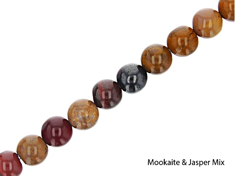 Multi-Stone Round appx 6mm Bead Strand Set of 16 appx 15-16""