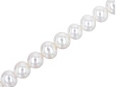 White Cultured Freshwater Pearl Large Hole Semi-Round appx 10-11.5mm Shape Bead Strand appx 8""