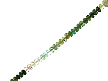 """Picture of Chrome Tourmaline Shaded Graduated Rondelle appx 2.5-4mm Bead Strand appx 18"""""""