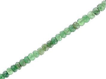 """Picture of Tsavorite Garnet Faceted Rondelle appx 4-5mm Bead Strand appx 14"""""""