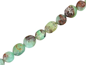 """Picture of Australian Chrysoprase Nugget appx 9x7-10x8mm Shape Bead Strand appx 15-16"""""""