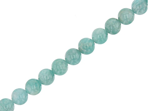 Brazilian Amazonite Round appx 6mm Bead Strand appx 15-16""