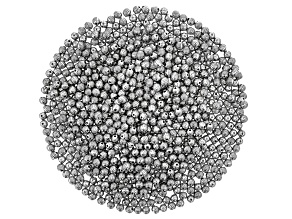 Lightweight Electroform Round Line Textured Beads in Antiqued Silver Tone 1,000 Pieces Total
