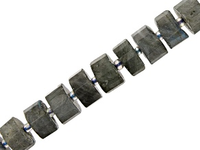 "Labradorite Faceted Irregular Wheel appx 11-12mm Shape Bead Strand appx 15-16"""