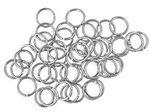 Jump Rings 6mm Silver Over Set Of 50