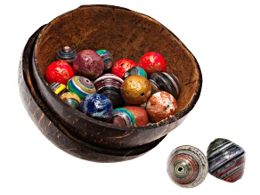Beads in A Coconut Shell Kit Mache-Mache, Large Double Bicone, Large Rd, And Medium Rd Paper Beads