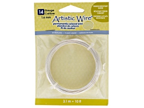 Artistic Wire 14 Gauge Tarnish Resistant Silver Wire 3.1m, 10ft