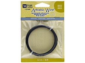 Artistic Wire 16 Gauge Hematite Color Wire, 10 ft., 3.1 Meter