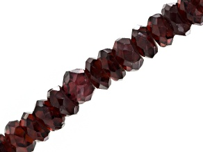 Red Garnet Bead Strand Appx 5mm Faceted Rondelle Shape Appx 14 inch Strand
