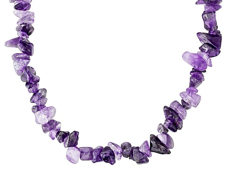 "12x13mm 15x25mm Natural Purple Amethyst Gemstone Graduated Nugget Beads 15.5/"""
