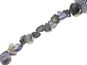 Iolite Pebble Bead Strand 15 inch