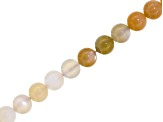 Multi-Stone, Moonstone And Sunstone Apx 8mm Round Shape Bead Strand Apx 15-16 inch Length