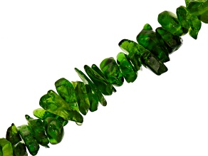 Chrome Diopside Chip Shape Bead Strand Apx 34-36 inch Length