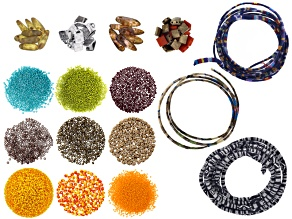 Native Cord Beading Kit includes Native Cord, Beads, Flat Crimp Ends, And Project Tutorial