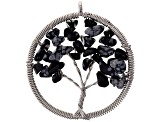5pc Tree Of Life Chips Pendant Set: Qtz,Aventurine Quartzite, Rose Qtz, Tiger Eye&Snowflake Obsidian