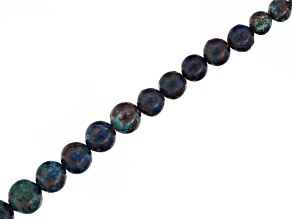Chrysocolla in Matrix Graduated Beads Appx 5-12mm Strand Appx 14.5-15.5