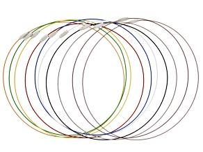 10pc Steel Necklace Cord Set W/ Screw Closure Apx 18