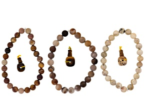 Dakota Stones™ Mala Neutral Boho Stack Bead Set incl 3 Bead Strands And 3 Mala Beads