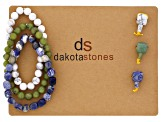 Dakota Stones™ Mala Cool Boho Stack Bead Set incl 3 Bead Strands And 3 Mala Beads