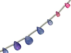 Tanzanite And Spinel Smooth Drop Side Drilled Bead Set