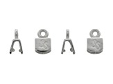 Set Of Four Piece 5mm Silver Plated Brass Flat Crimp Clasps