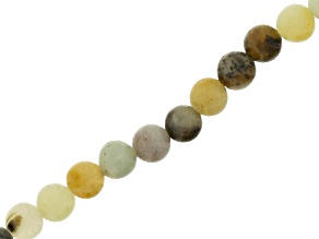 Multicolor Quartzite 4mm Round Bead Strand Appx 15-16